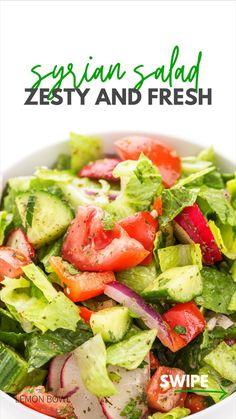 Lettuce Salad Recipes, Fresh Salad Recipes, Side Salad Recipes, Healthy Salad Recipes, Vegetarian Recipes, Cooking Recipes, Italian Salad Recipes, Vegetable Salad Recipes, Summer Salad Recipes