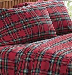 Flannel Antique Plaid Duvet Cover Or Sham From Lands End
