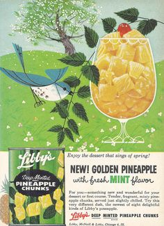 vintage Libby's Pineapple ad