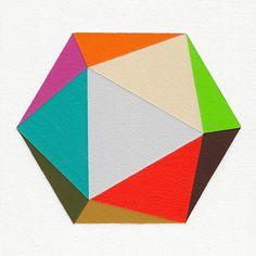 Giclee print  Icosahedron  12 x 12 modern geometric by magnapaint, $25.00