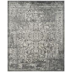 Safavieh Evoke Isla Gray/Ivory Rectangular Indoor Machine-Made Oriental Area Rug (Common: 9 x 12; Actual: 9-ft W x 12-ft L)