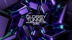 Glossy Tunnel Video Animation | Full HD 1920×1080 | Looped | Photo JPEG | Can use for VJ, club, music perfomance, party, concert, presentation | #3d #circle #dance #disco #edm #electro #glow #loops #music #network #reflect #space #techno #tunnel #vj