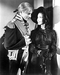 """Vivien Leigh and Laurence Olivier in """"That Hamilton Woman"""" (Dir. Alexander Korda, 1941). . Synopsis (IMDb): The story of courtesan and dance-hall girl Emma Hamilton, including her relationships with Sir William Hamilton and Admiral Horatio Nelson and her rise and fall, set during the Napoleonic Wars. - #VivienLeigh #LaurenceOlivier #ThatHamiltonWoman #Cinema #ClassicMovies #ClassicHollywood #OldHollywood #Vintage #VintageHollywood #VintageFilm #VintageMovies #Hollywood #GoldenAgeCinema…"""