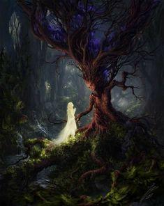 🎨The Sleeping Green - Öinen-Matkaaja (Nightly Traveler) 🖌Artist - Julian Bauer 🔥Tag be featured! Fantasy Artwork, Dark Fantasy Art, Fantasy World, Fantasy Love, Fantasy Forest, Fantasy Creatures, Mythical Creatures, Fairytale Art, Art And Illustration