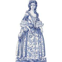 Portuguesa Hecho A Mano Pintada Azul Azulejos Mural Panel invitación cifras