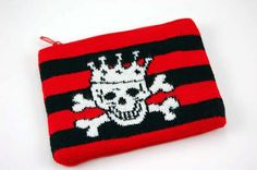Purse Knitted Skull With Crown  £3.99
