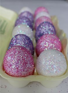 I wish our glitter eggs came out this cool! @adrienne Beneway