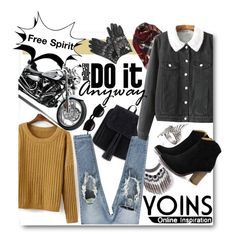"""""""Yoins!"""" by ina-kis ❤ liked on Polyvore featuring Versace, Chicnova Fashion and yoins"""
