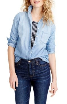 Free shipping and returns on J.Crew Always Chambray Shirt (Regular & Petite) at Nordstrom.com. Washed for a soft, lived-in look and tailored for a boyish fit (emphasis on the 'ish'—it's quite flattering), this is the one you'll pick up in multiples. Yeah, it's just that good.