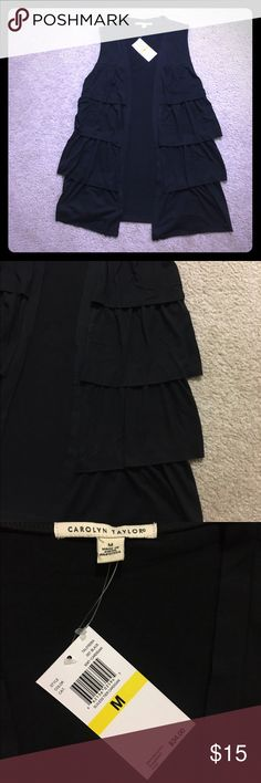 Carolyn Taylor's black sleeve tier cardigan New with tag. Any questions let me know carolyn taylor  Sweaters Cardigans