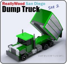 ReallyWood San Diego Dump Truck Wood Toy Plan Set