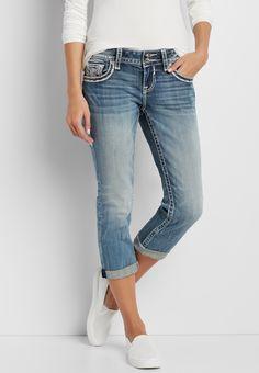 c79dd3a8abda39 Vigoss® capri with sequin embellished back flap pockets (original price,  $74.00) available