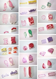 Pretty handmade rubber stamps via Luloveshandmade.blogspot.com