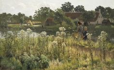 Stunning colour tones in this painting by Emile Claus !
