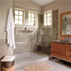 Airy Contemporary Bathroom by Traci Kearns