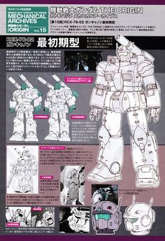 Mobile Suit Gundam The Origin: Mechanical Archives - Image Gallery Robot Series, Real Robots, Gundam Mobile Suit, Gundam Art, Robot Design, Robot Art, Gundam Model, Designs To Draw, Game Art
