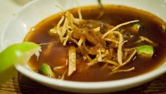 Toasted Tortilla Soup With Fresh Cheese And Chile Pasilla   The Splendid Table