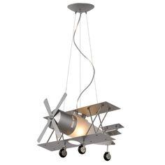 Lámpara colgante de diseño con forma de avión de Lucide