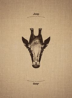 "Jeep advertised its free-roaming ethos with images of animals which, when flipped, became different animals. ""See whatever you want to see,"" said the tagline."