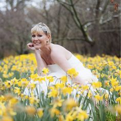 "The magic of daffodils on Crystal Heirlooms Rustic Romance photoshoot. Our beautiful model is wearing ""Elaine"", a sumptuous and dazzling side tiara featuring a high quality 1950s crystal cluster. £190"