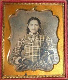 Unusual Dressed Young Woman Daguerreotype Photograph | eBay