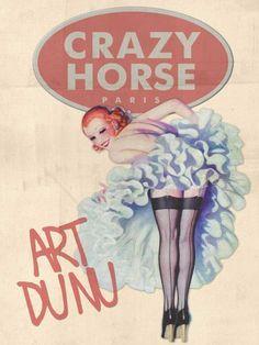 Crazy Horse Paris Moulin Rouge Vintage Art Poster Print PinUp Girl Bar 18X24 by Havanamike.com, http://www.amazon.com/dp/B0070QNE50/ref=cm_sw_r_pi_dp_KB7jqb0Q8197D