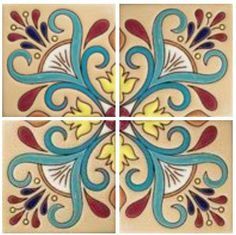 Art nouveau stencil beautiful Ideas for 2019 Ceramic Pottery, Ceramic Art, Art Nouveau, Mexican Ceramics, Spanish Tile, Tile Patterns, Mosaic Tiles, Bunt, Stencils