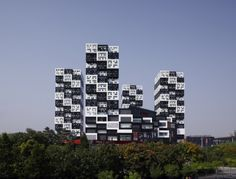 Bumps, Beijing - SAKO Architects (2008) - an integrated project with four residences as well as a commercial building.
