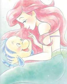 Unicorns And Mermaids, Disney Little Mermaids, Ariel The Little Mermaid, Film Disney, Arte Disney, Disney Fan Art, Disney Princess Ariel, Princess Art, Princess Luna