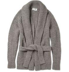 6e77ec6bd9 Yves Saint Laurent Belted Shawl Collar Cardigan