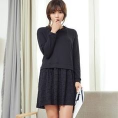 Buy 'ANNINA – Inset Pullover Lace Dress'
