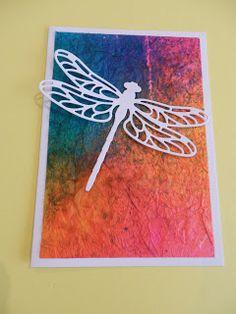 Tissuepaper techniek, Stampin'Up dragonfly