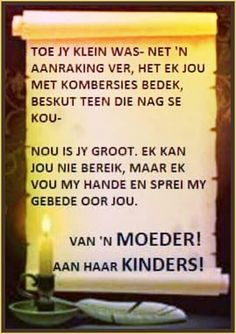 Van 'n moeder aan haar kinders Mother Son Quotes, Afrikaanse Quotes, Father's Day, Special Words, Precious Children, Silhouette Cameo Projects, Bible Verses Quotes, Embedded Image Permalink, Kids And Parenting