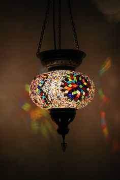 Free Shipping to Europe! Bohemian Decor Multicolour Handmade Turkish Mosaic Glass Hanging Lantern Lamp Pendant Light Lampshade by Bohomio on Etsy https://www.etsy.com/listing/469012333/free-shipping-to-europe-bohemian-decor