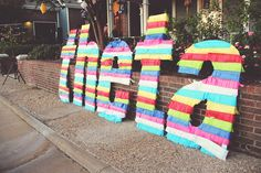 Dying over how cute these letters are. Such a great idea and SO easy to do! #Theta