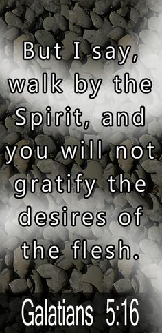 Re: Galatians -- To resist temptation we have to deliberately invite the Holy Spirit to control our entire life. He will help us overcome all evil, and live the Christian life in which we've been called. Thy Word, Word Of God, Die To Self, Todays Verse, Favorite Bible Verses, Godly Woman, In The Flesh, Christian Life, Holy Spirit