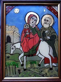 Icoane pe Sticla Religious Icons, Religious Art, Soul Friend, Advent Season, Biblical Art, Glitter Paint, Holy Family, Orthodox Icons, Romanesque