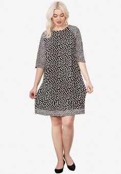 f6e33bb5fe9 Twin Shift Dress by ellos® Plus Size Casual