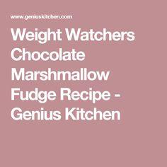 Weight Watchers Chocolate Marshmallow Fudge Recipe - Genius Kitchen