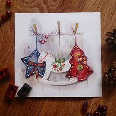 Акварельный новый год продолжается :) Несу новогоднее настроение в массы вместе с  @doodle_and_sketch #doodleandsketch_новогоднее_настроение #учусьрисовать #рисуйкаждыйдень #одинденьсхудожником #акварель #иллюстрация #иллюстрацияназаказ #открыткиновогодние #уменятутнарисовалось  #watercolors #art #illustration #drawing #watercolorillustration #merrychristmas #christmas #topcreator