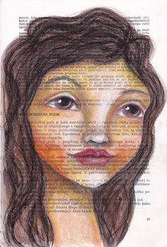 Portrait on a book page by NatashaMay