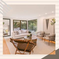 Living room design in Los Angeles, Dona Lola drive. What do you think about the subdued colours? We like them a lot♥️ Wood Design, Modern Design, Outdoor Furniture Sets, Outdoor Decor, Walnut Wood, Living Room Designs, House Design, Colours, Interior
