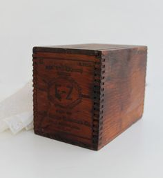 Vintage wooden box with wooden box