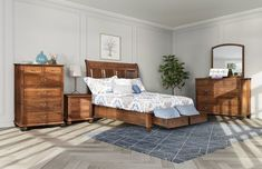 Amish Sap Cherry Stanton Four-Piece Bedroom Storage Set - Quick Ship Furnish your bedroom with exquisite wood furniture from Amish country, the kind that looks and feels different and the kind that will last. #Amishfurniture #bedroomsets
