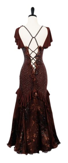 Dipped In Chocolate | Smooth & Standard Dresses | Encore Ballroom Couture