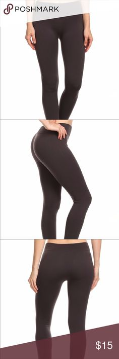 New Charcoal Colored Fleece Leggings Very stretchy leggings fleece lined for warmth. Will fit sizes S to XL. Pants Leggings