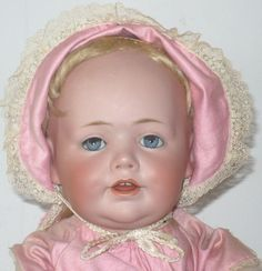 "16"" Illusive Kestner Mold 247 Toddler Body Blue Sleep Eyes Hair Lashes from americana-and-whimsy on Ruby Lane"