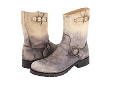 FRYE FRYE - ROGAN ENGINEER (STONE STONE WASH LEATHER) MEN'S PULL-ON BOOTS. #frye #shoes #
