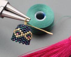 peyotel tassel earrings ~ Step by step ~ Seed Bead Tutorials