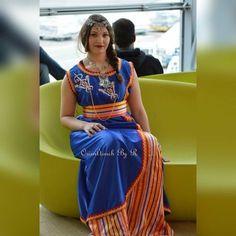 Robe Kabyle Bleu Roi